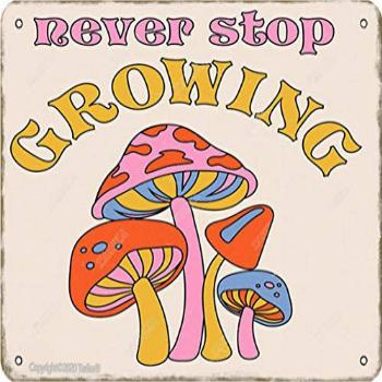 Never Stop Growing Iron 8X12 Inch Vintage Look Decoration