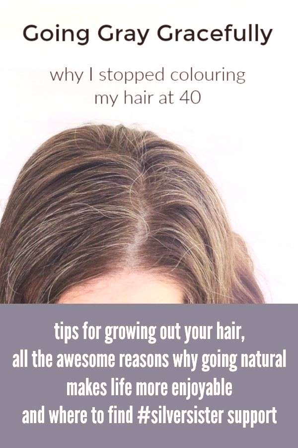 I'm eight months in to growing out my gray hair. Here are some tips on going gray gracefully and ho