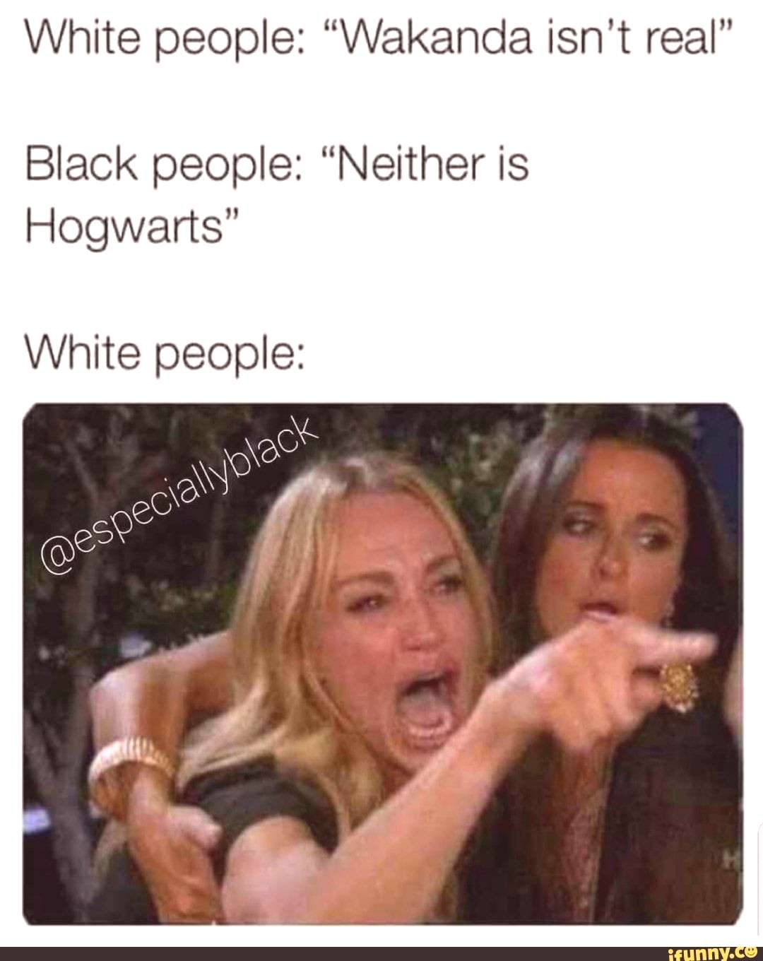 """Picture memes dXjadUKr6: 5 comments — iFunny White people: """"Wakanda isn't real"""