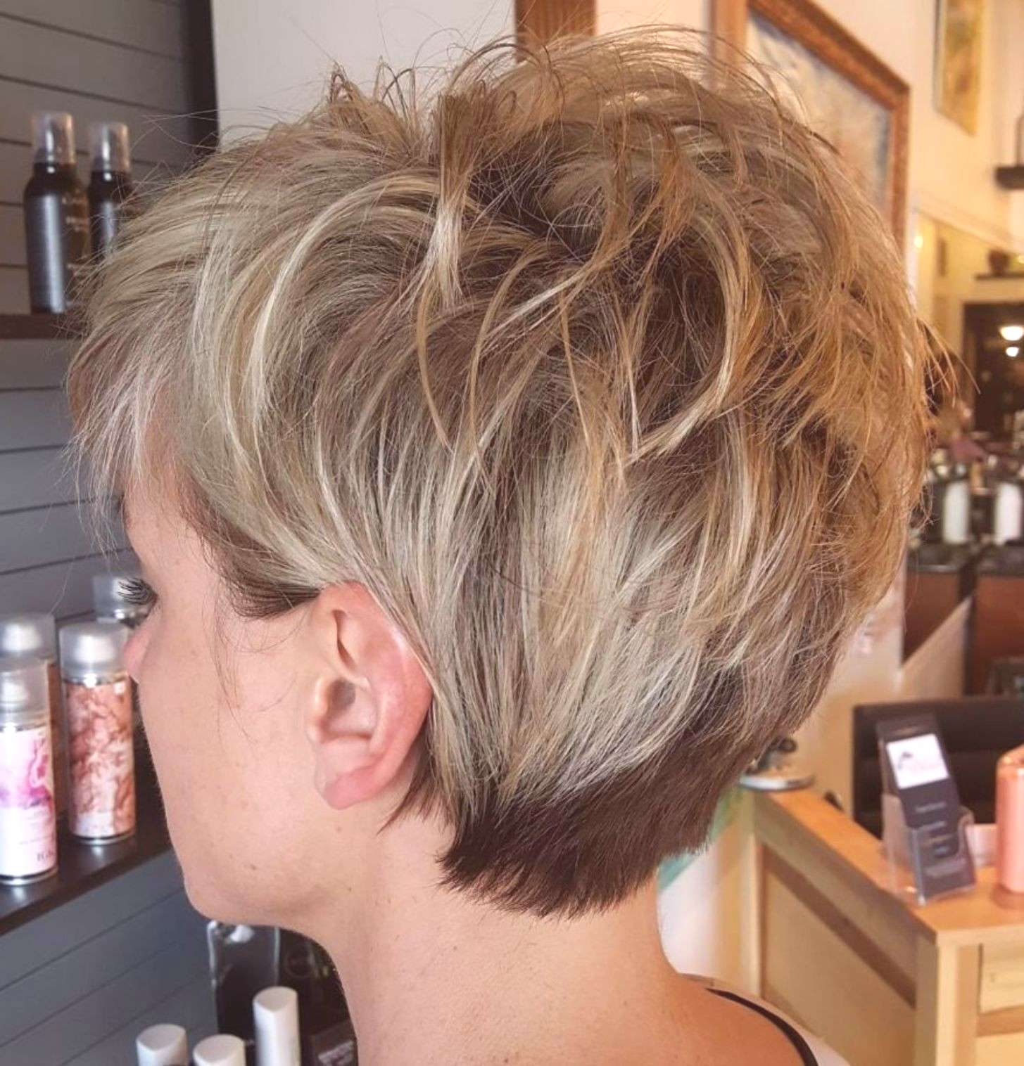 Pixie Shag With Spiky Top