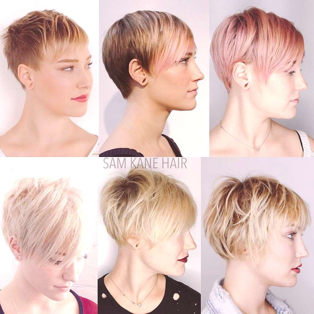 Stages of growing out a pixie. It doesn't have to be painful. @___negativecreep