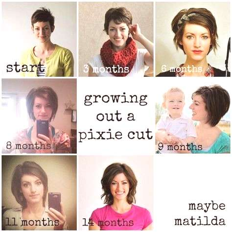Tips for growing out a pixie cut. If I ever choose to grow it long again